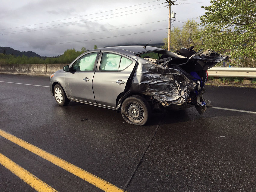 A 2006 Hyundai struck a 2003 semi-truck in Discovery Bay on the morning of April 30.