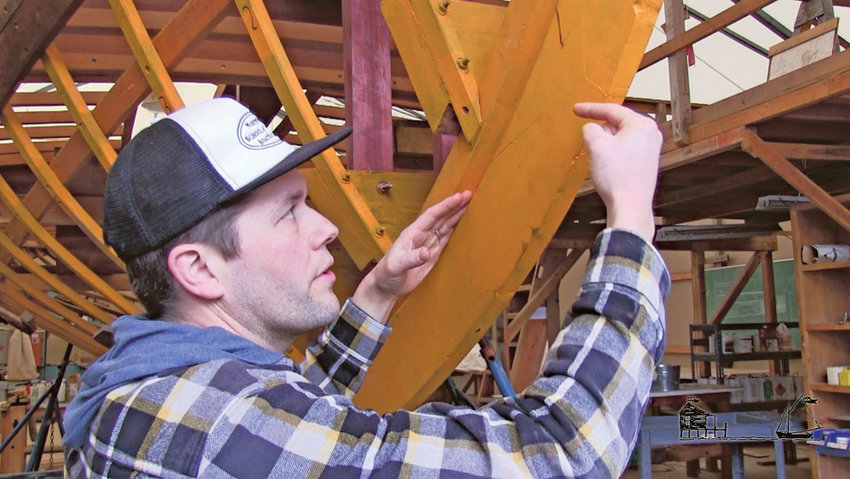 "Sean Koomen, chief instructor of the Northwest School of Wooden Boatbuilding, explains a boat's backbone and hull structure in the first two parts of the ""Understanding Wooden Boat Construction"" series of videos shot by Off Center Harbor."