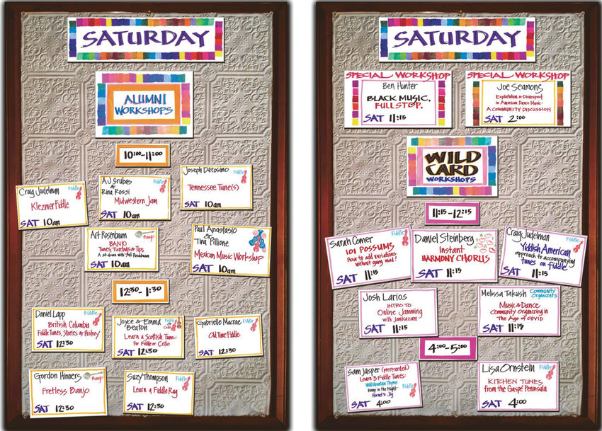 The virtual corkboard that is a Fiddle Tunes tradition.