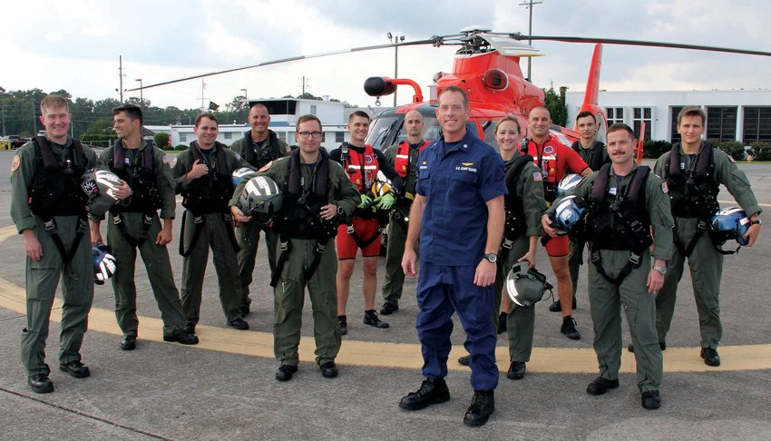 Brian Erickson and the team out of Air Station Savannah that rescued 24 crewmembers from a capsized cargo ship.