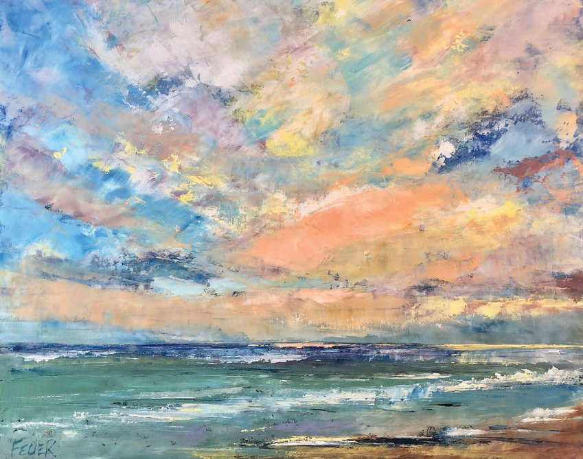 The work of Kari Feuer, who will teach a painting workshop studying clouds and skies presented by Port Townsend School of the Arts Tuesday, Dec. 15.