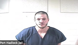 Michael Duwane Smith appears earlier in Jefferson  County Superior Court via a video link from the Jefferson County Jail.
