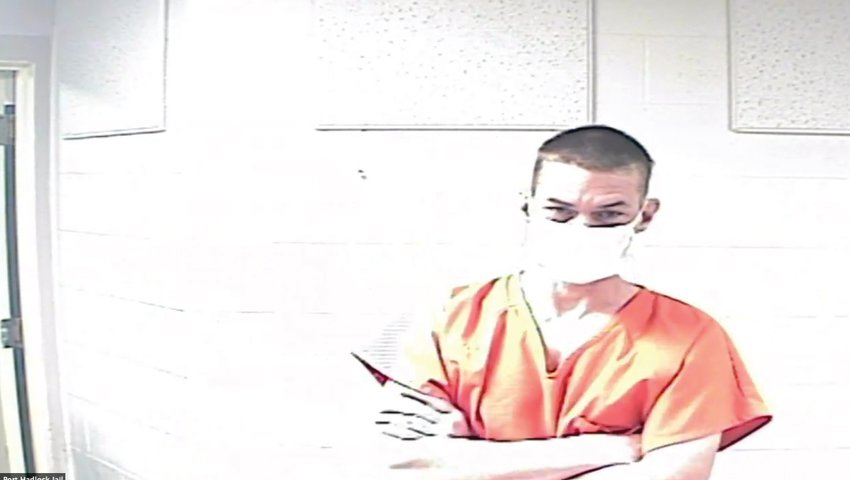 James Nathaniel Parker is pictured during an earlier appearance in Jefferson County Superior Court via a video link from the Jefferson County Jail.
