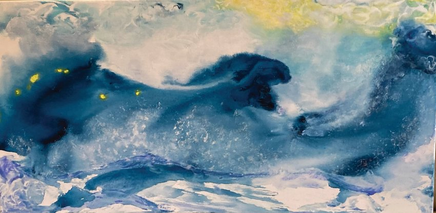 Featured artist Sally Pfaff's work can be seen at Port Townsend Gallery this month.