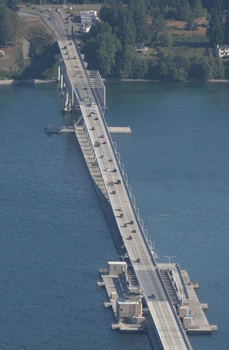 The Hood Canal Bridge.