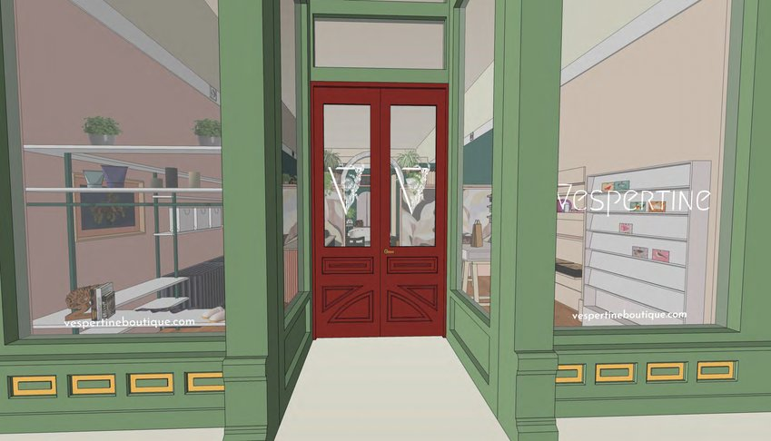 A digital rendering gives an idea of what the storefront will look like after completion.