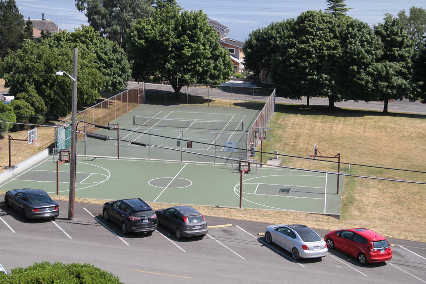 The courts at Courthouse Park in Port Townsend.