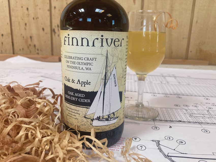 The Northwest School of Wooden Boat Building has teamed up with Finnriver to produce their Oak & Apple dry cider