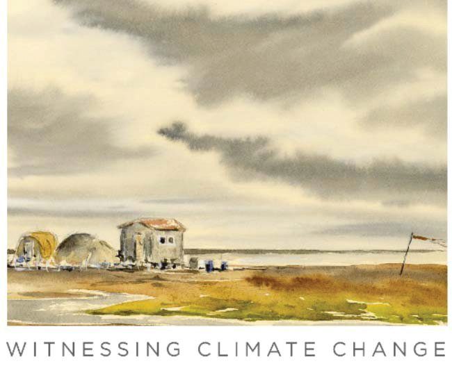 The series of paintings and stories illustrate the consequences of a warming Arctic.
