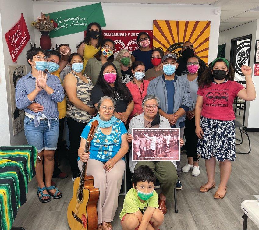 Community to Community Development at Dignity Vigil with Rosa Martha Zárate Macías, 2021.