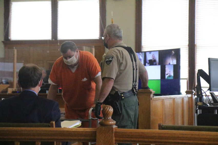 Beckmeyer prepares to leave the courtroom after his final sentencing, Friday, Aug. 20.