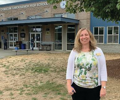 Chimacum Junior / High School principal Kim Kooistra will celebrate 20 years in education this year. She brings a background in place-based learning to Chimacum.