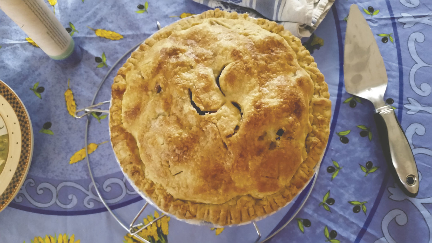 "Kate McDermott, author of ""Art of the Pie: A Practical Guide to Homemade Crusts, Filling, and Life,"" shared her love of teaching the art of pie making at the Jefferson County Library Nov. 15. McDermott is well known on the Olympic Peninsula for her baking. Here, McDermott is pictured in her kitchen in Port Angeles. Courtesy photo"