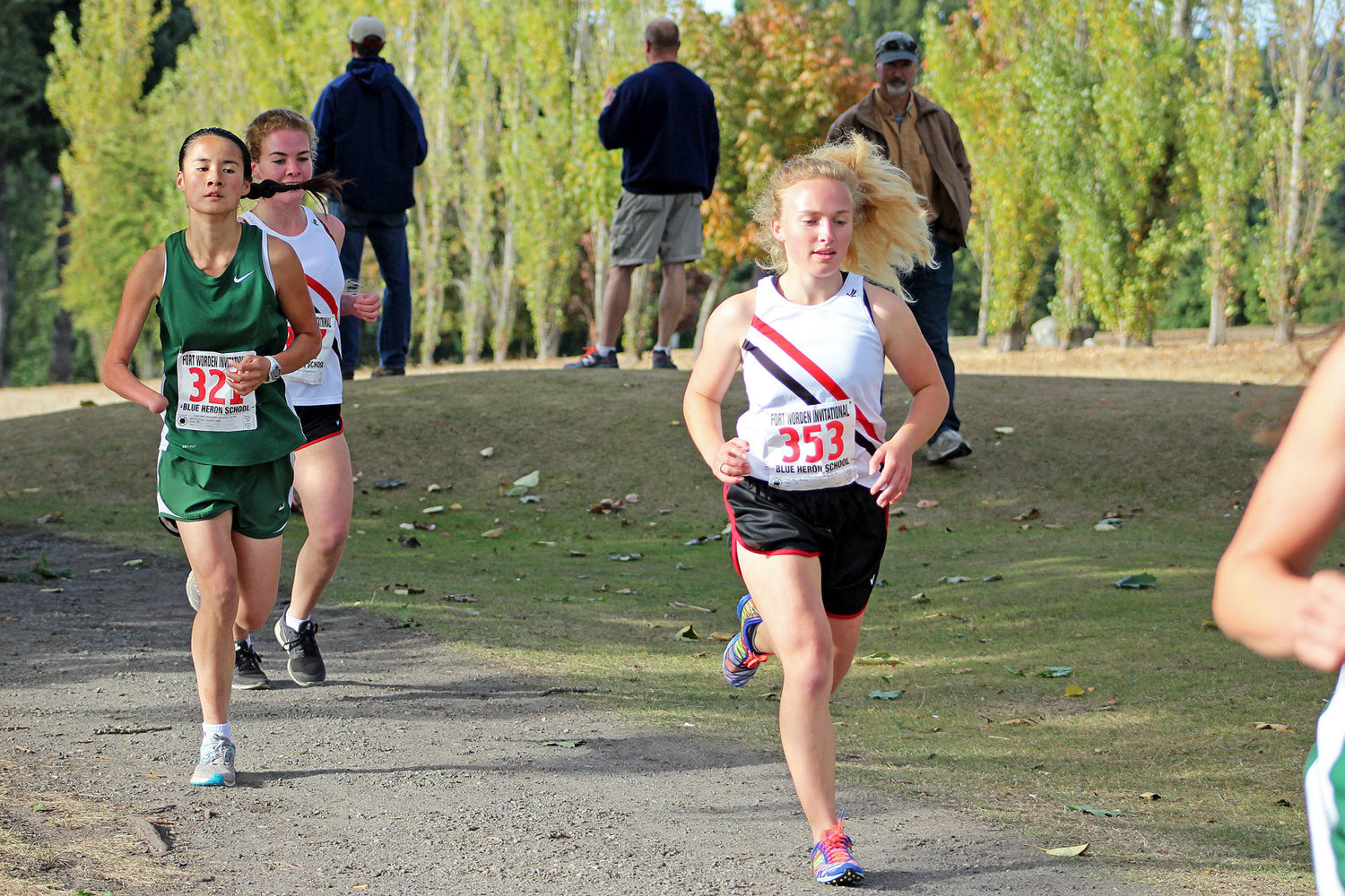 Port Townsend High School senior Ally Bradley placed fifth overall at 22:16 at the cross-country team's home meet Sept. 20 at the Port Townsend Golf Course. Photo by Donna Winter