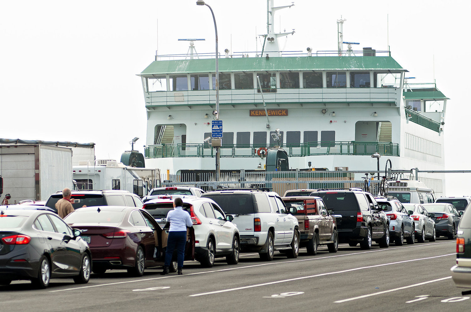 ferry: 1-boat woes: rudder problems, crab pot lines ground vessel