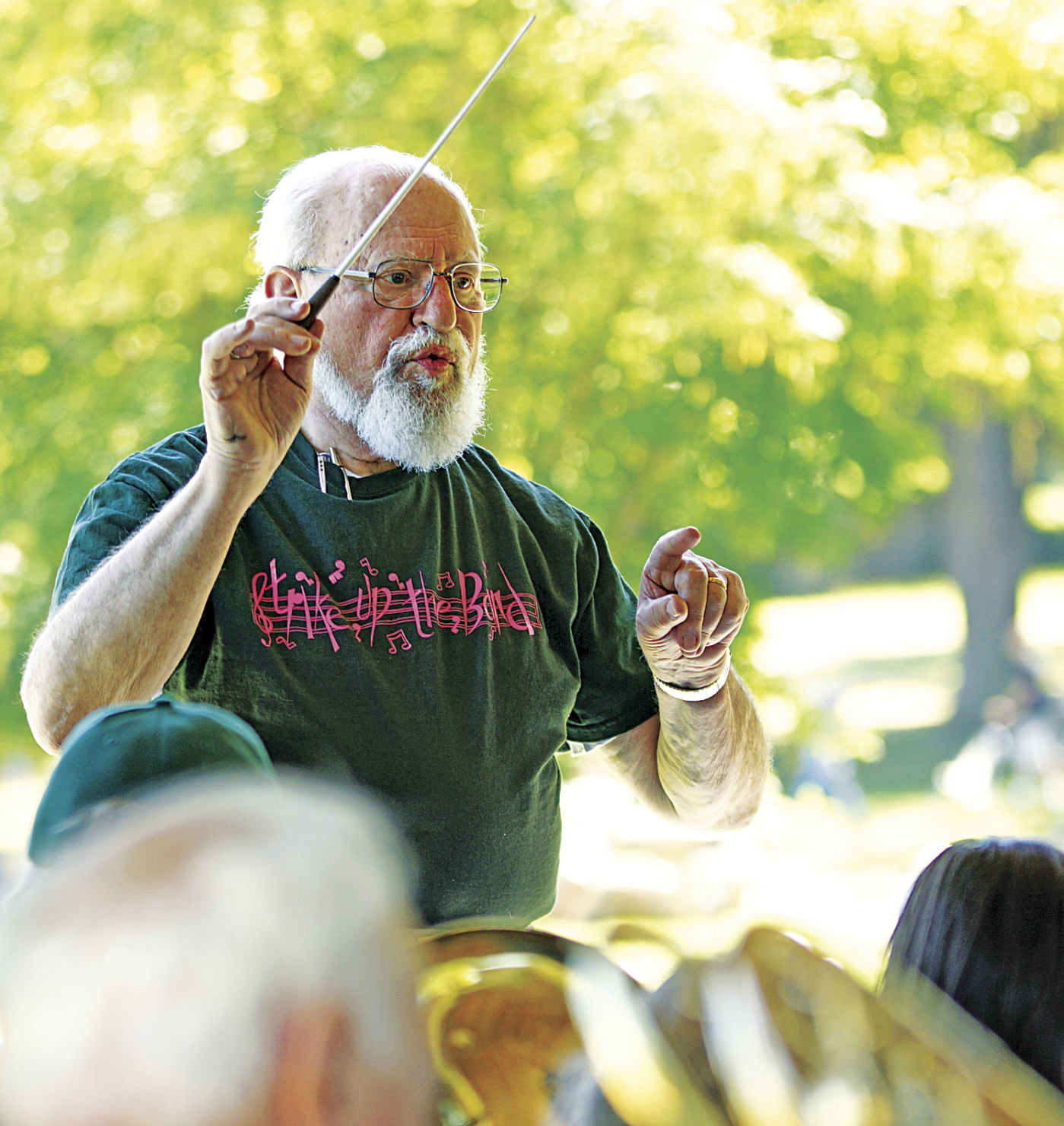 Karl Bach leads the Port Townsend Summer Band in a summer concert at Chetzemoka Park. Leader file photo