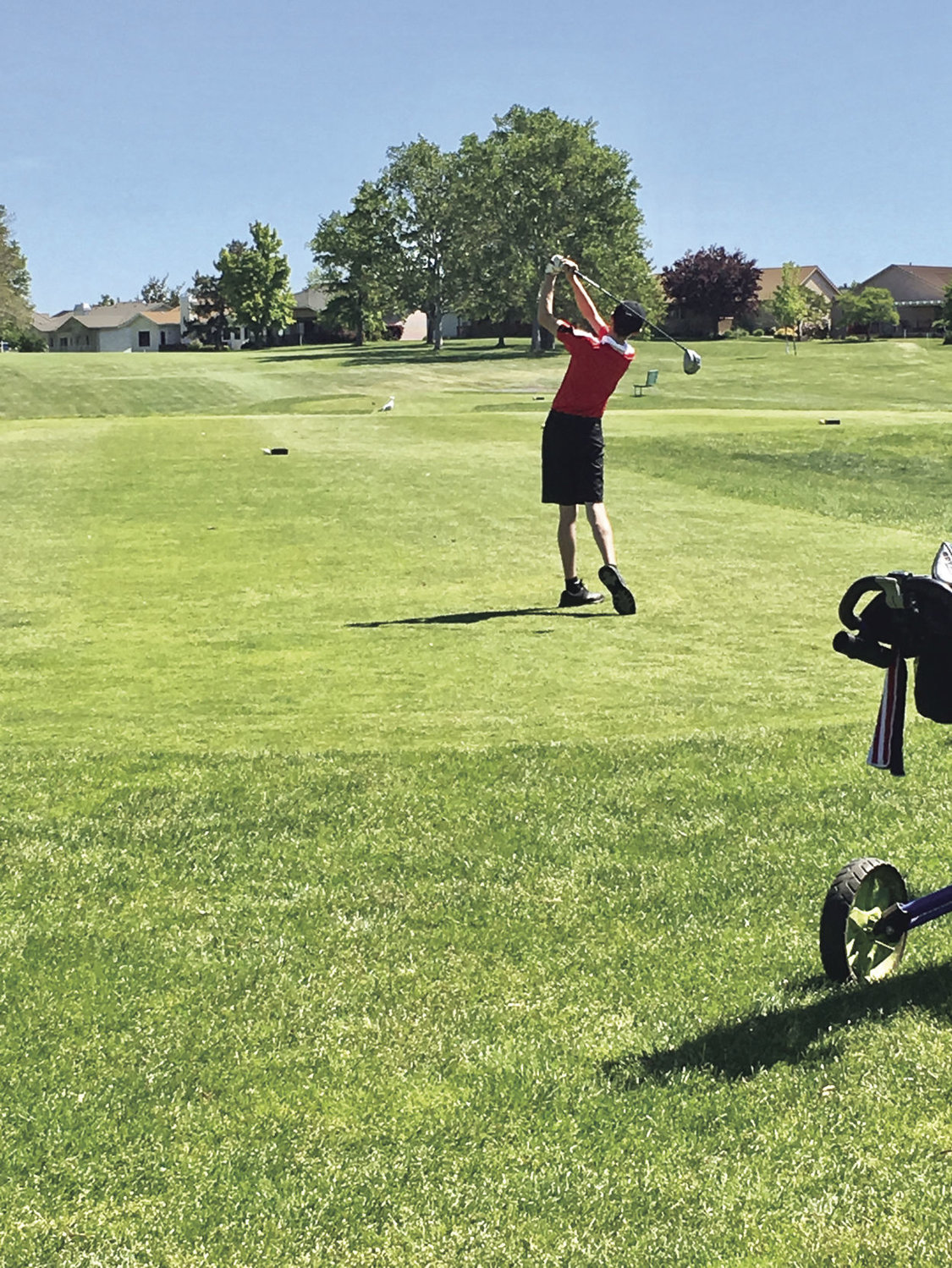 Port Townsend High School freshman Jacob Madison plays in the 1A boys state golf tournament at the Sun Willows Golf Course in Pasco May 23-24. Photo courtesy of Gabriel Tonan