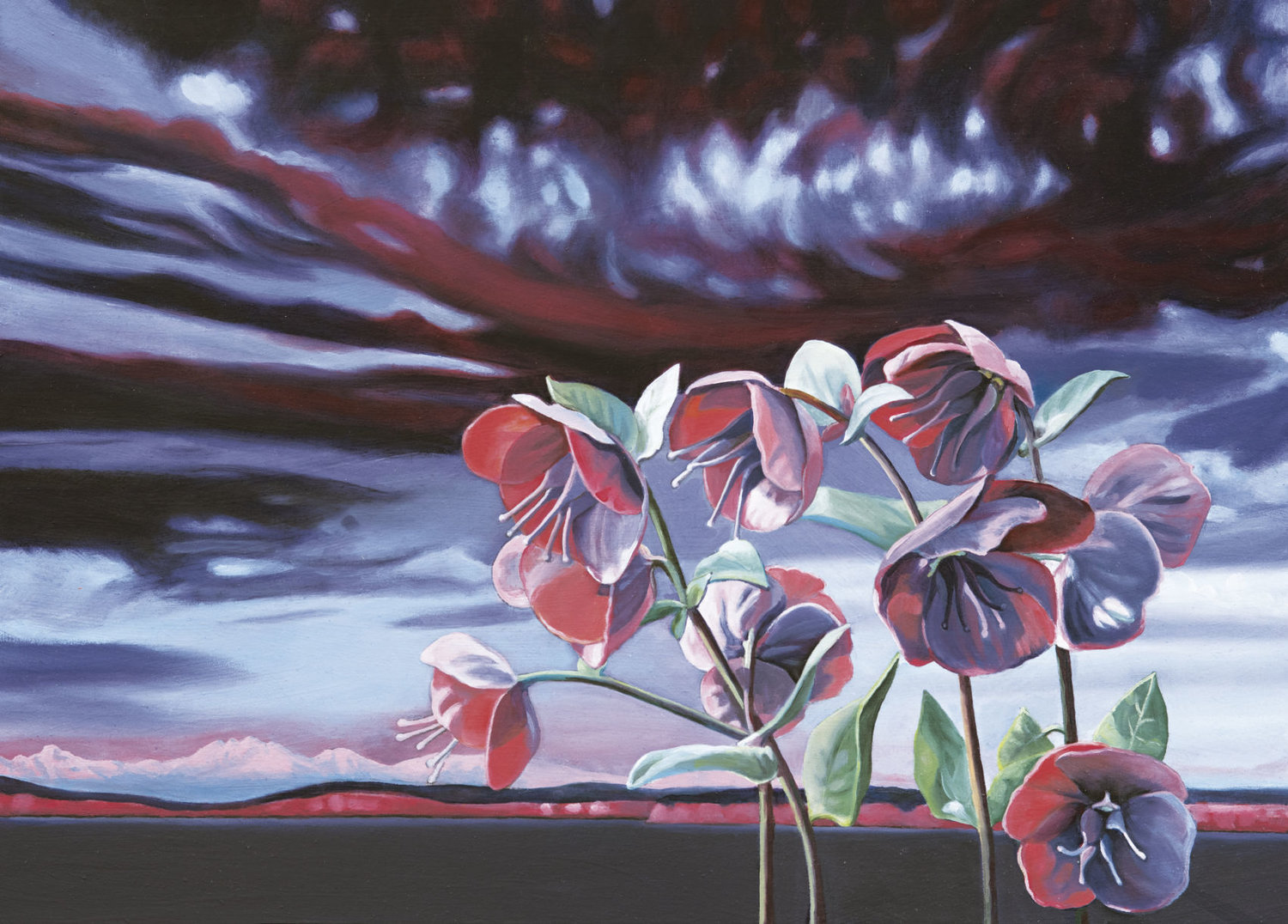 """Shades of Pink"" is an oil painting by Nancy Van Allen, whose art is exhibited at Pippa's through April. Courtesy image"