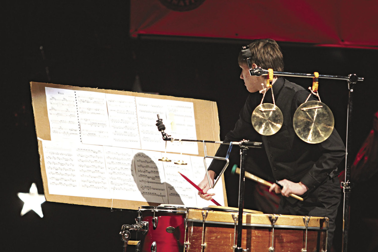 Forrest Brennan, a 12th-grader, received second place at Stars of Tomorrow in the senior division. Brennan is also set to perform at the All-County Picnic and Concerts on the Dock. Photo by Allison Arthur