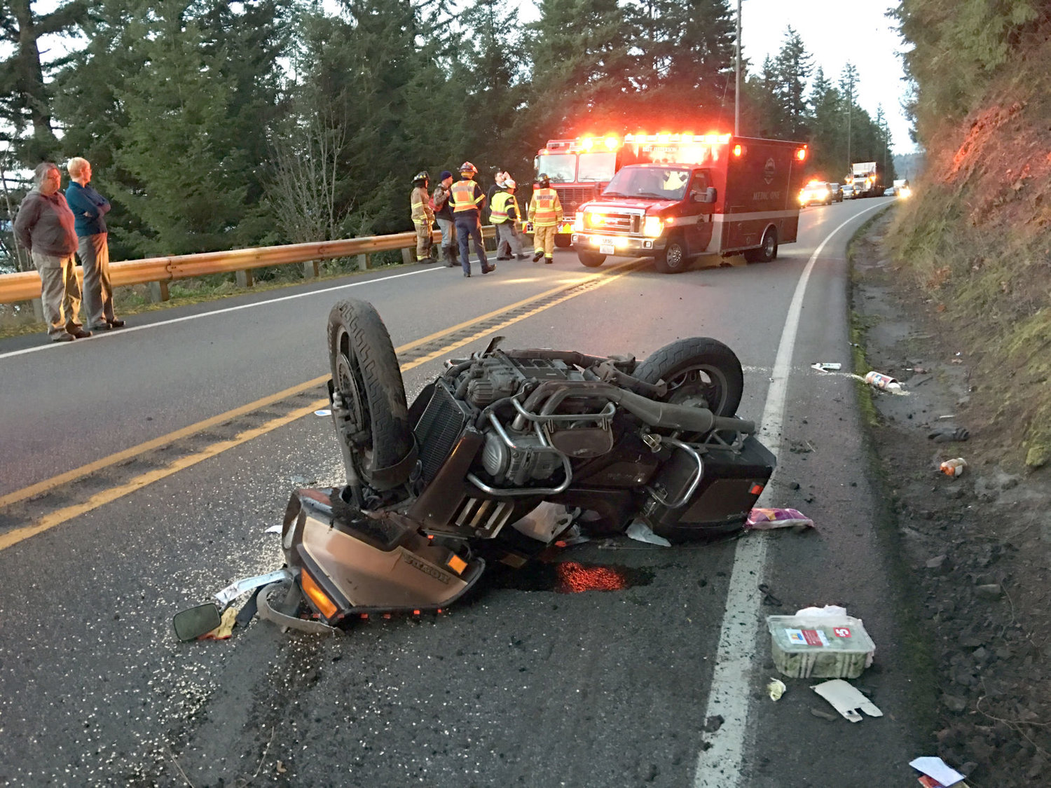 Motorcyclist flown to Harborview after accident | Port