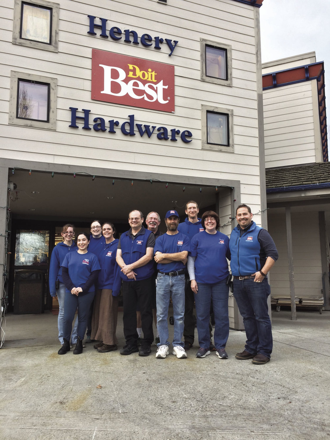 "Henery Do it Best Hardware, a family-owned store that's done business in Jefferson County since 1994, was voted favorite ""Hardware Store"" in the Port Townsend & Jefferson County Leader's 2016 Reader's Choice. Employees include Tera Cloward, Michelle Cesmat, Jessie Meyer, Kendra Rezendes, Carl Burkgren, Mike Henery, Tim Koger, Kevin McIntosh, Karen House and Matthew Henery."