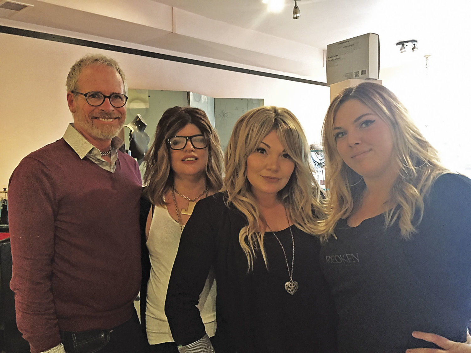 The staff at Salon Delucca in uptown Port Townsend specializes in classic styling and the most current trends, and the stylists' skills earned the salon a rating as best hair salon. Pictured are (from left) David Bellecci, Lisa Johnson, Juliet Martin (rated as best stylist/barber) and Cessna Freund.