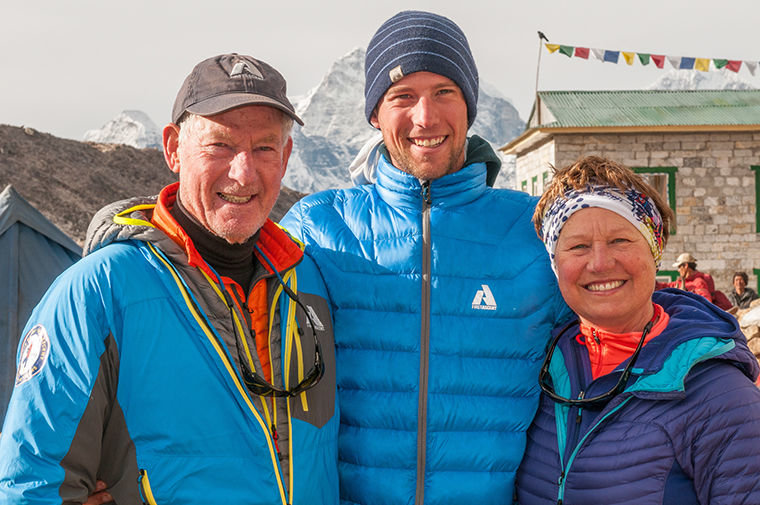 Jim Whittaker, Leif Whittaker and Dianne Roberts on the trail to Everest Base Camp in 2012. Leif's Nov. 1 book-tour speaking engagement in Port Townsend is the first time the son has shared the stage with his father. Courtesy photo