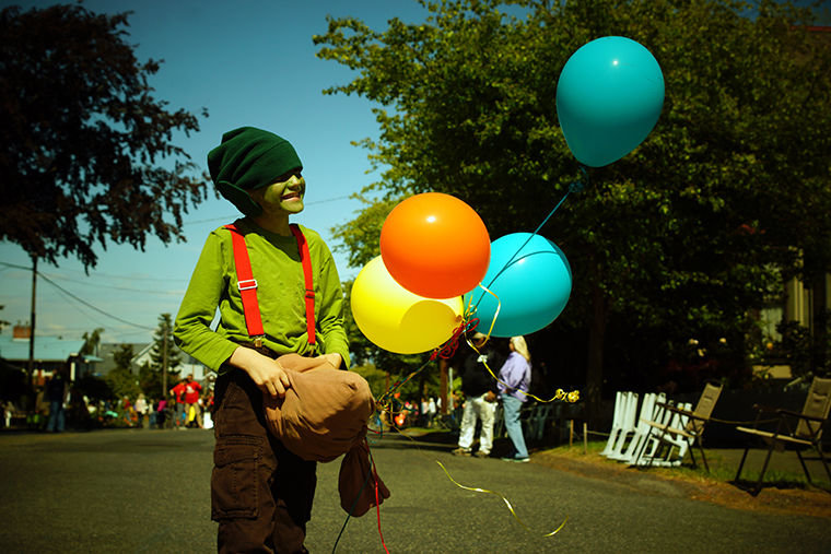 Aidan Dudley-Poulsen, 9, dresses as a goblin during the Kiddies Parade. Photo by Nicholas Johnson