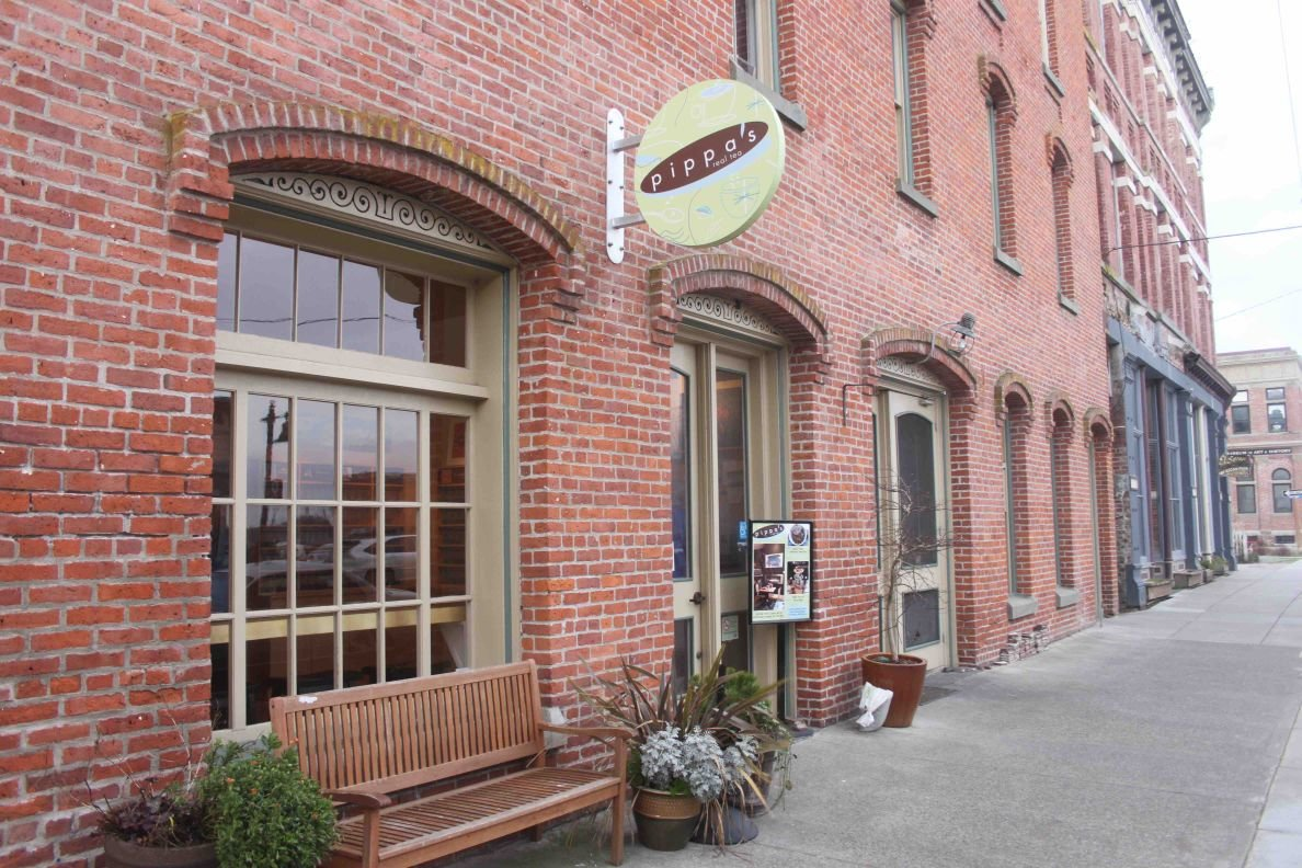 Pippa's Real Tea is located at 636 Water St., Port Townsend.