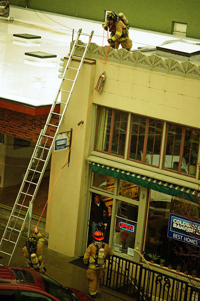 Chimney Flue Flaw Brings Firefighters To Downtown Port