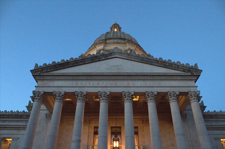 "Washington State legislators are busy in Olympia deciding how to spend taxpayer money, and a lot of other things. The Washington Newspaper Publisher's Association has an ""Olympia News Bureau"" of college journalists, guided by professional journalists, preparing news stories for statewide distribution this session. Photo by WNPA"