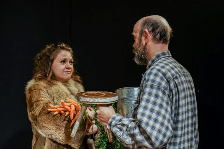 "Katie Kowalski plays Shelly and Peter Wiant plays Tilden in the One-Time Players' production of ""Buried Child,"" a Pulitzer Prize–winning play by Sam Shepard. The show runs for three weekends, Jan. 14-31. Shows begin at 7:30 p.m. Thursday-Saturday and at 2:30 p.m. on Sundays at Chameleon Theatre, 800 W. Park Ave. Tickets are $15, but no one is turned away for inability to pay. Photo by Eligius Wolodkewitsch"