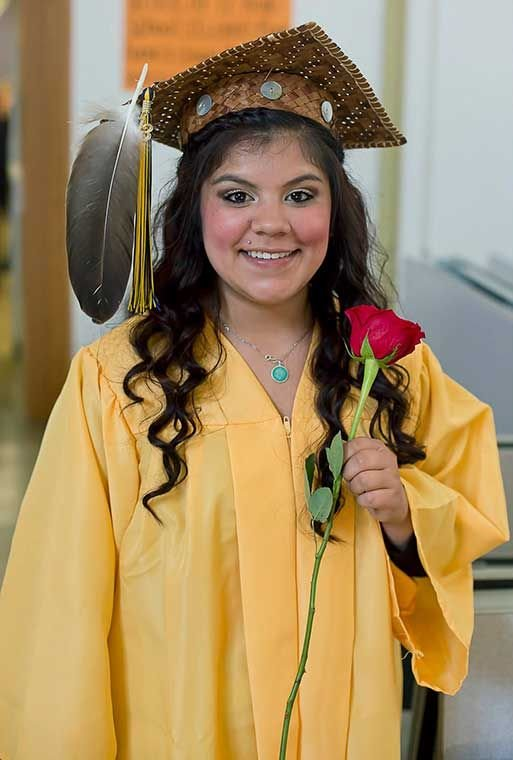 This photo from her Facebook page shows Virginia G. Castaneda at her Forks High School commencement in 2013.