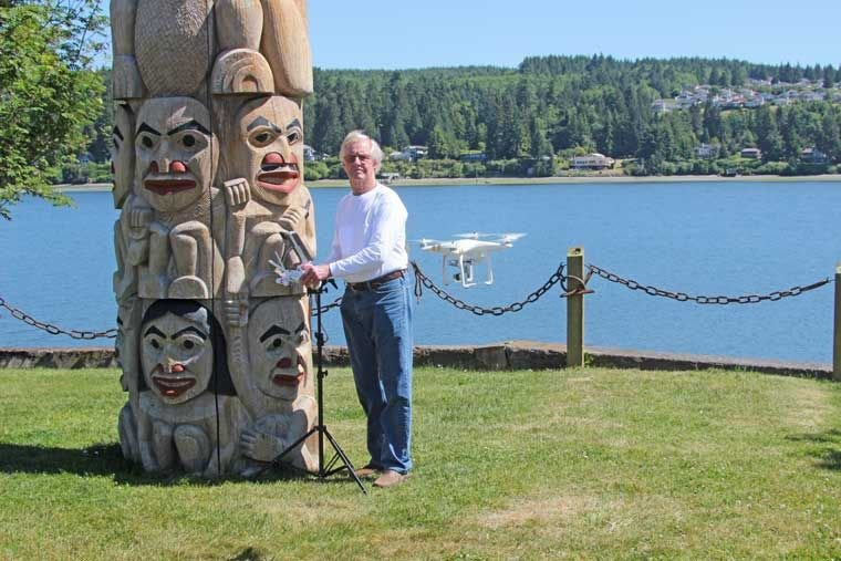 Drone photo business takes flight out of Port Ludlow   Port