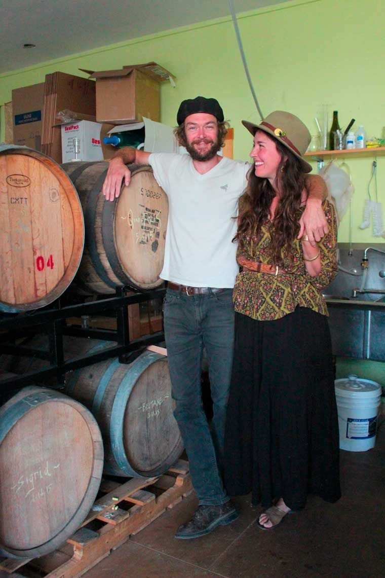 Robert Horner and Piper Corbett stand inside Propolis Brewing's current headquarters Friday, June 12, 2015. Running on a one-barrel system, the brewery produces about 3,410 gallons per year. Photo by Hannah Ray Lambert