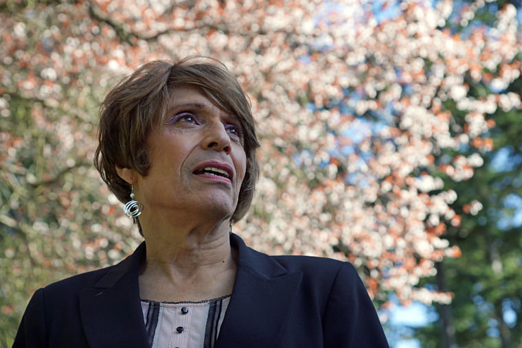 Emelia De Souza, 65, of Port Townsend said she is finally able to embrace her inner identity after having survived life-threatening cases of liver cancer and hepatitis C. The former Henry Souza is now sharing her story in an effort to shine light on transgender issues and ensure that others like her receive equal treatment in health care, schools, businesses, and city and county governments. Photo by Nicholas Johnson