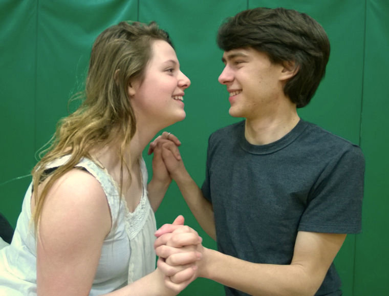 "Keira DeLuna and Noah Phillips play the title roles in ""Romeo and Juliet,"" playing at 7 p.m., Fridays and Saturdays, March 6, 7, 13, and 14, and 2 p.m., March 15 at Mountain View Commons gym. Submitted photo"