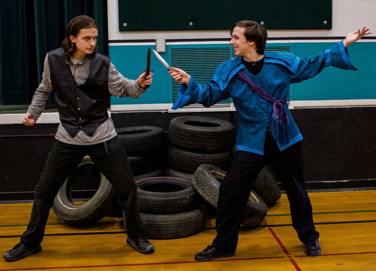 "The OCEAN production of ""Romeo and Juliet"" features Alex Kuykendall as Tybalt and Thomas Kuykendall as Mercutio. Photo by Richard Sloane"