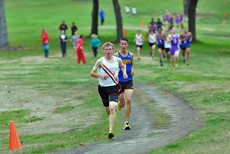 Port Townsend senior Ryan Clarke won the 3.25-kilometer cross country run Oct. 1 hosted at the Port Townsend Golf Club. Clarke is the runner to beat in terms of an Olympic League boys' championship. Photo by Nicholas Johnson