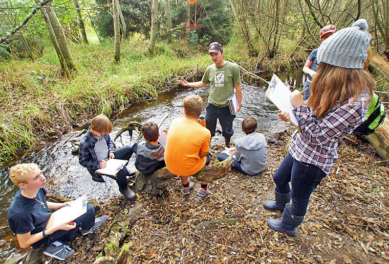 Blue Heron students work to restore Chimacum Creek