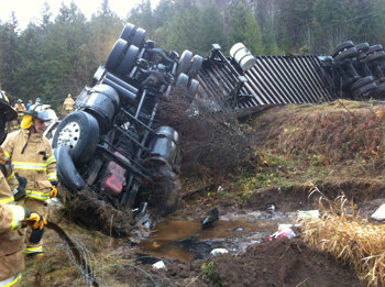 Safeway semi-truck driver wrecked after falling asleep: State Patrol