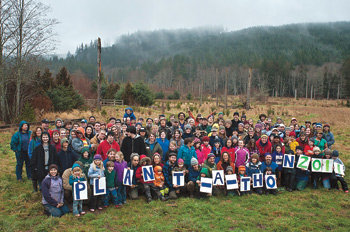 Hundreds plant trees in Tarboo to help salmon habitat | Port