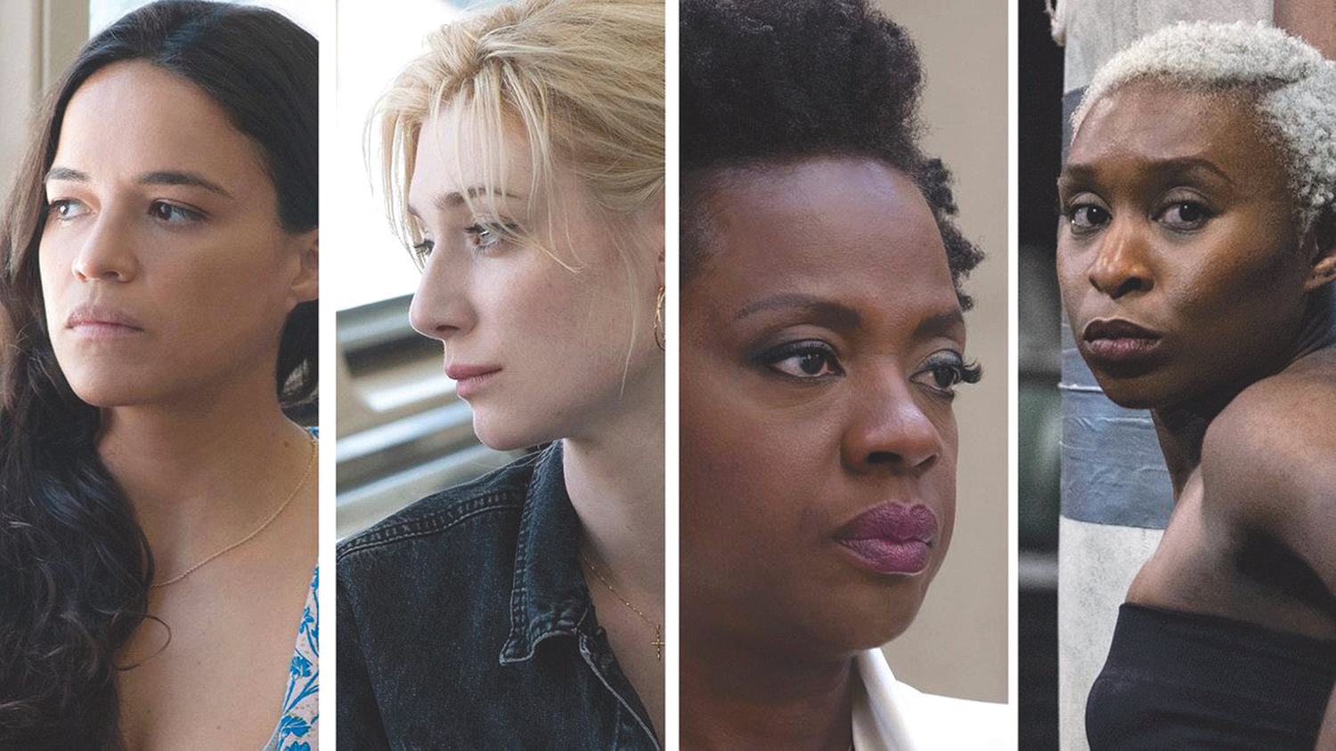 "From left, Michelle Rodriguez, Elizabeth DebickI, Viola Davis and Cynthia Erivo team up to pull off a heist as ""Widows."""