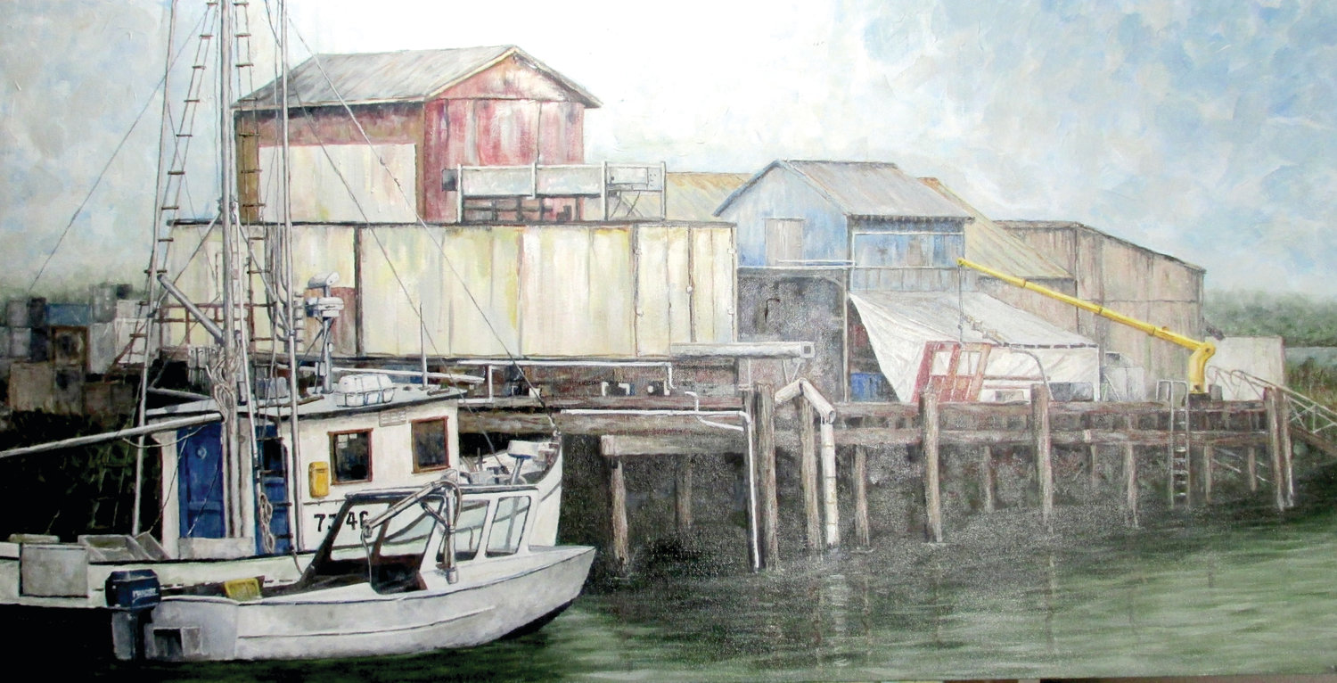 """Working Docks,"" by artist Steven Hammond, will be on display at the Port Ludlow Bay Club, 120 Spinnaker Place in Port Ludlow."