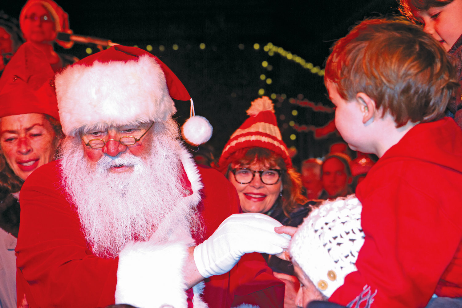 Santa greets children at the Port Townsend tree lighting Dec. 1.