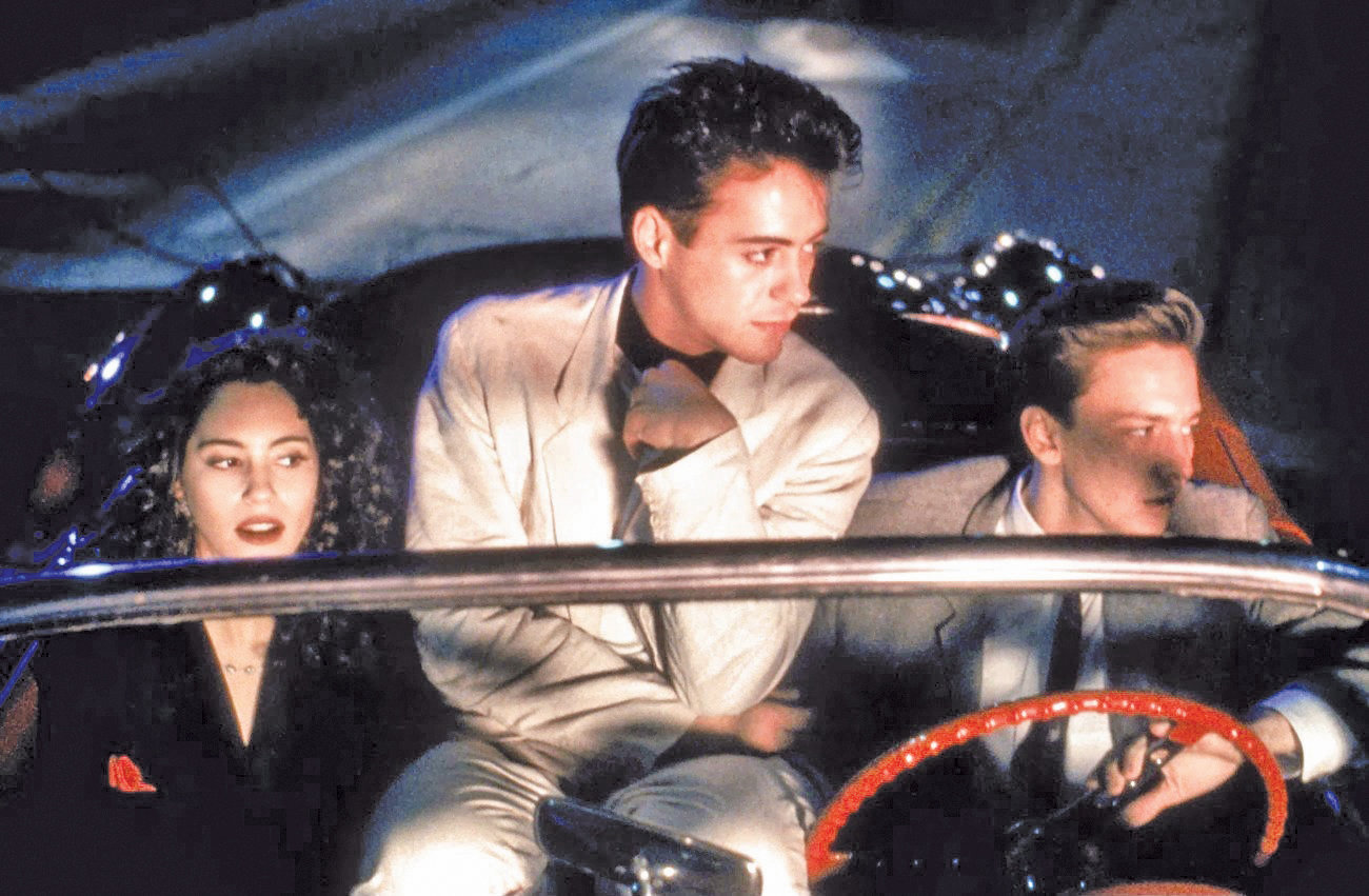 "From left, Jami Gertz, Robert Downey Jr. and Andrew McCarthy cope with the winter blues in ""Less Than Zero."