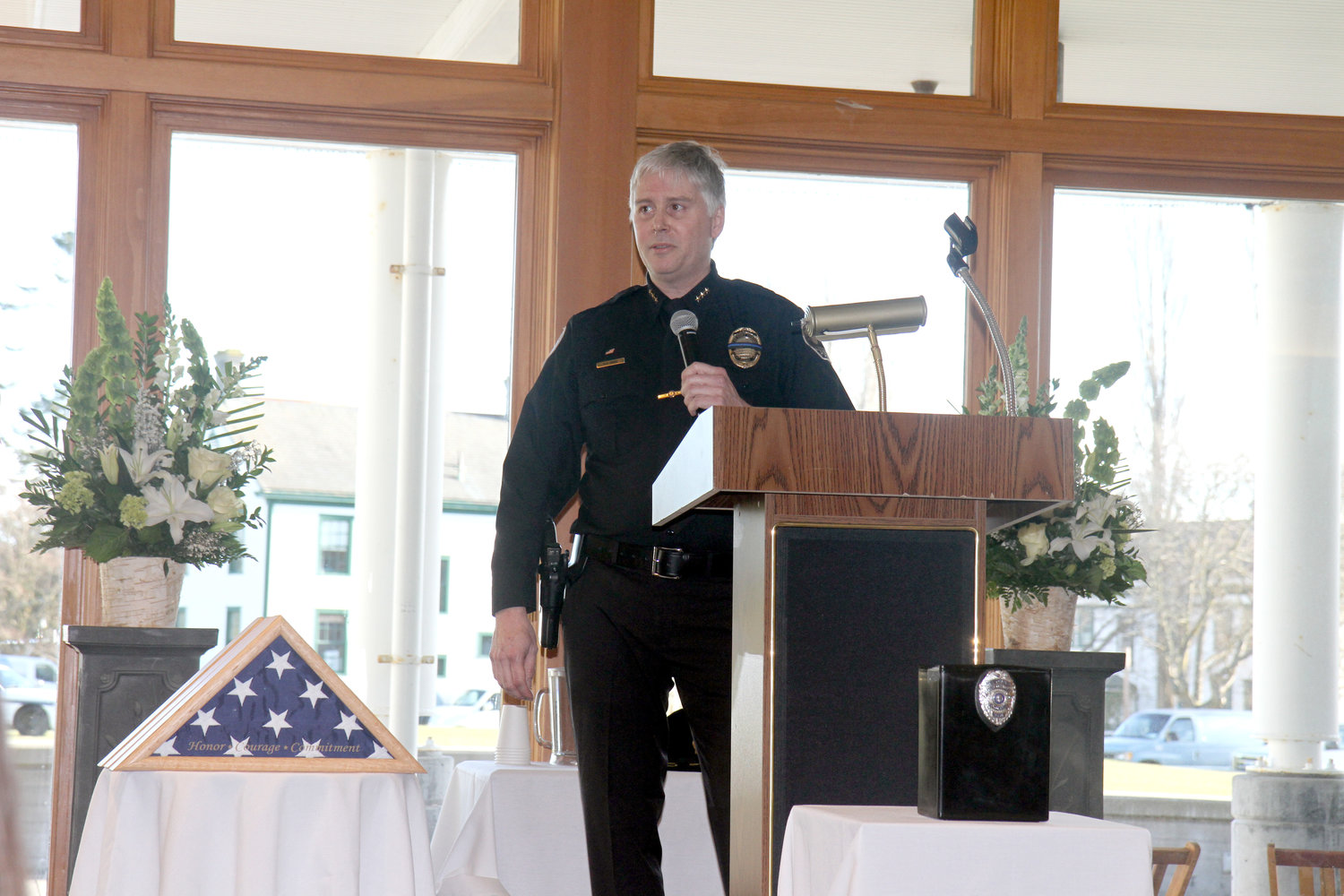 "Port Townsend Police Chief Mike Evans praises the ""warrior spirit"" of David Winegar, a reserve sergeant who lent his support to Evans both on duty and off."