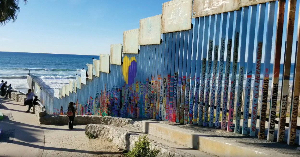 The border wall from the Mexico side.