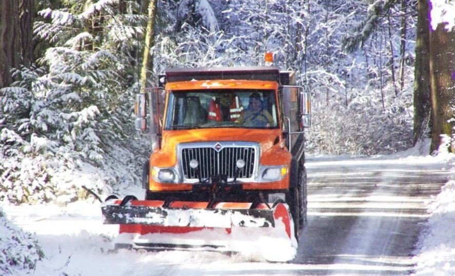 Jefferson County's Road Maintenance Division of the Public Works Department provides snow and ice control for all county roads.