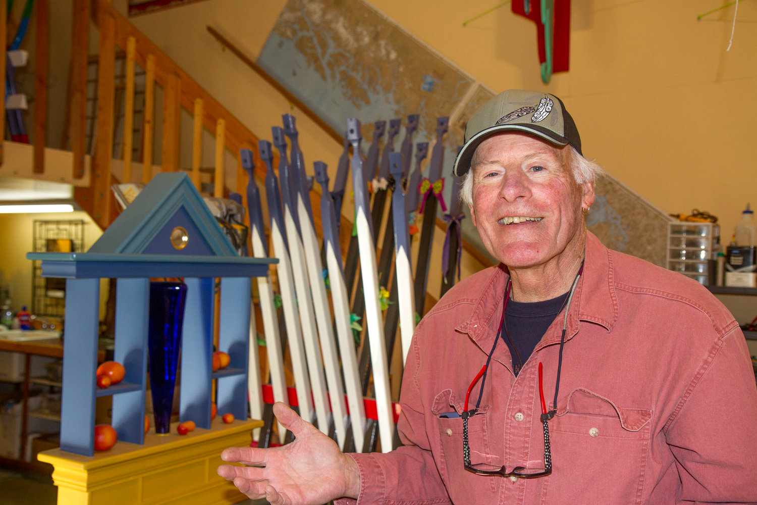 Working out of his Port Townsend studio, Schnick, 74, creates about three new pieces every two months, he said, adding he is inspired by often overlooked items.